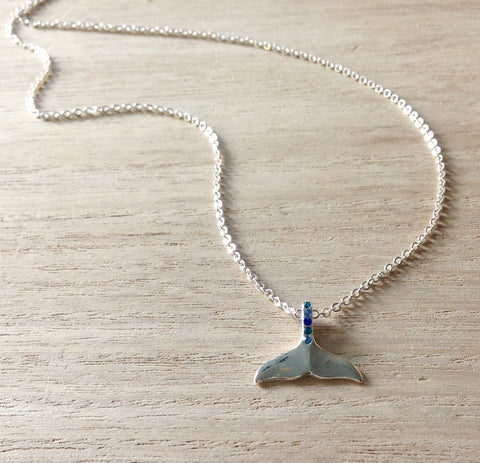 Crystal Whale Tail Necklace