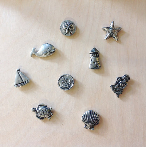 Mini Sea Life Pewter Magnet