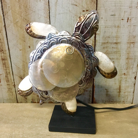 Capiz Sea Turtle Lamp