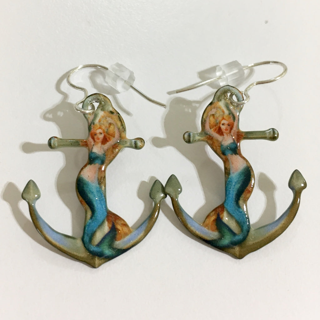 Mermaid Anchor Earrings