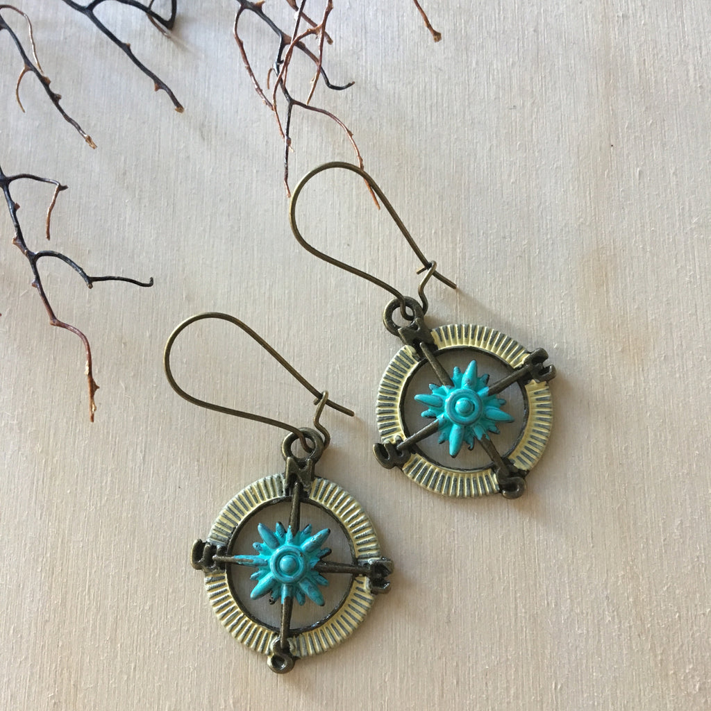 Wanderlust Compass Earrings