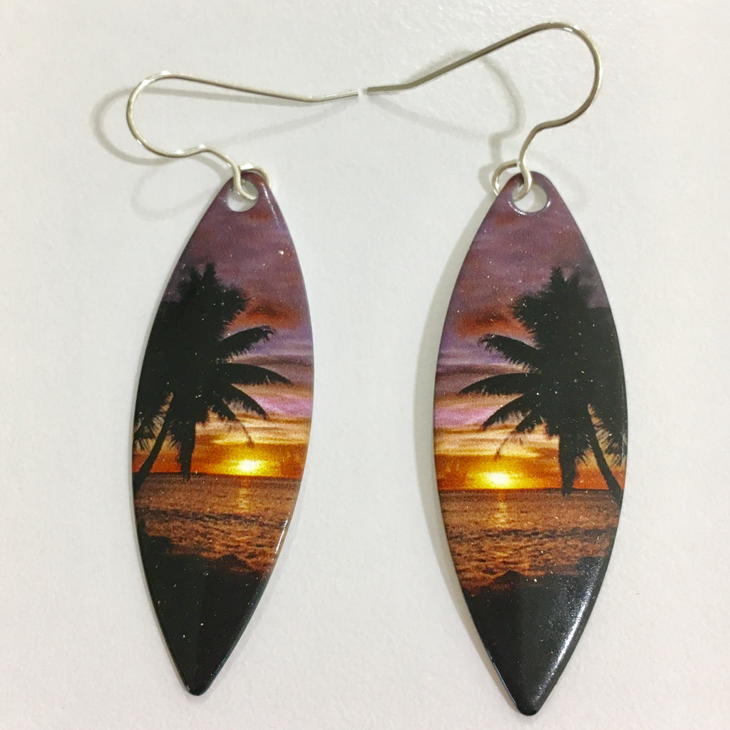 Tropical Surfboard Earrings