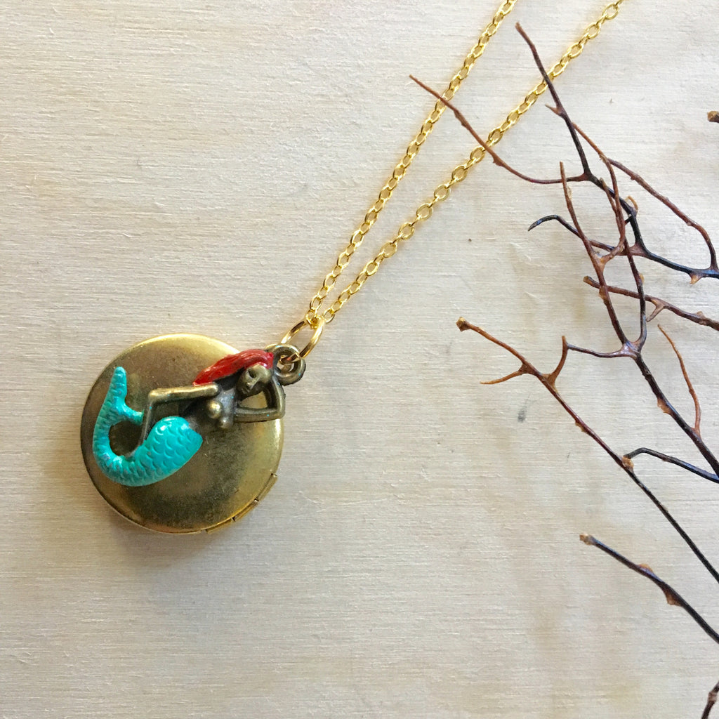 Red Mermaid Locket