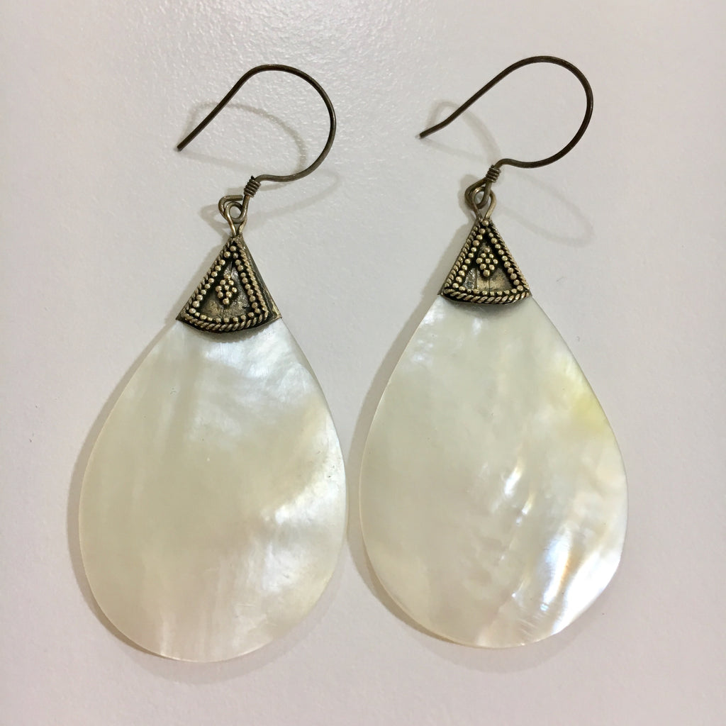 Pearl Shell Tear Drop Earrings