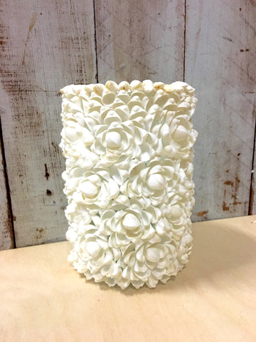 Rose Clam Shell Candle Holder