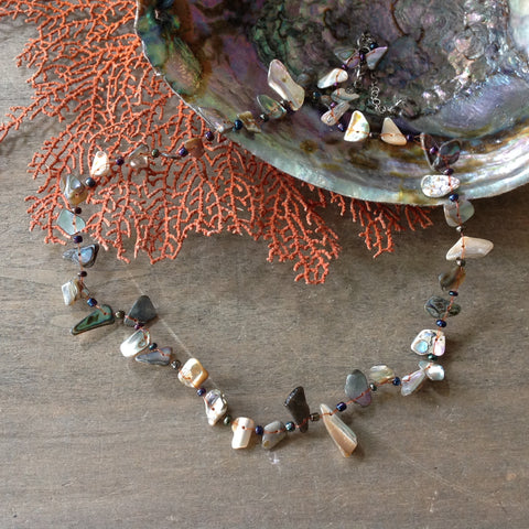 Abalone Chips Shell Necklace