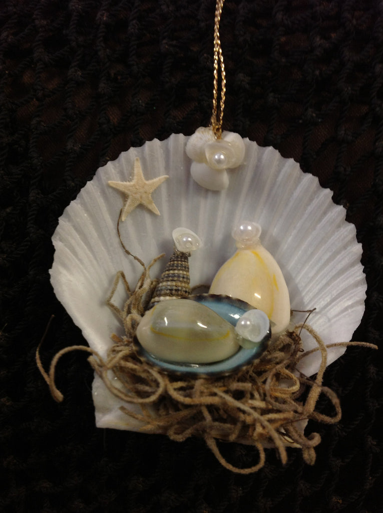 Shell Nativity Scene Ornament