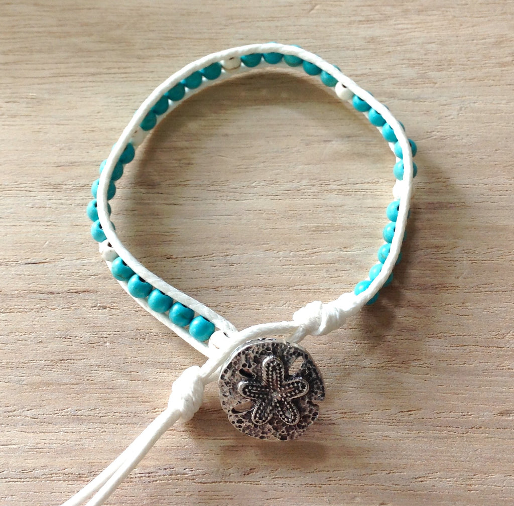 Sand Dollar Button Bracelet
