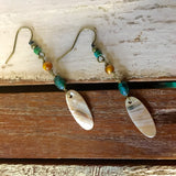 Surfboard Shell Earrings