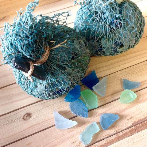 Sea Glass Fish Net Bags