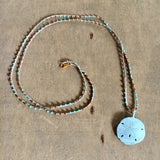 Sparkling Sand Dollar Beach Necklace