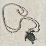 Paisley Sea Turtle Necklace