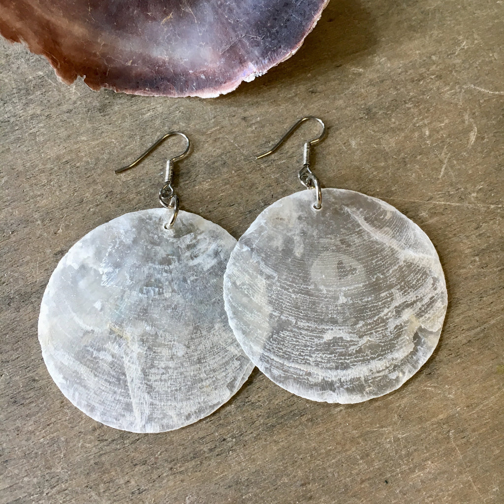 Capiz Seashell Earrings