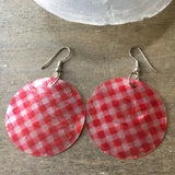 Checkered Capiz Earrings