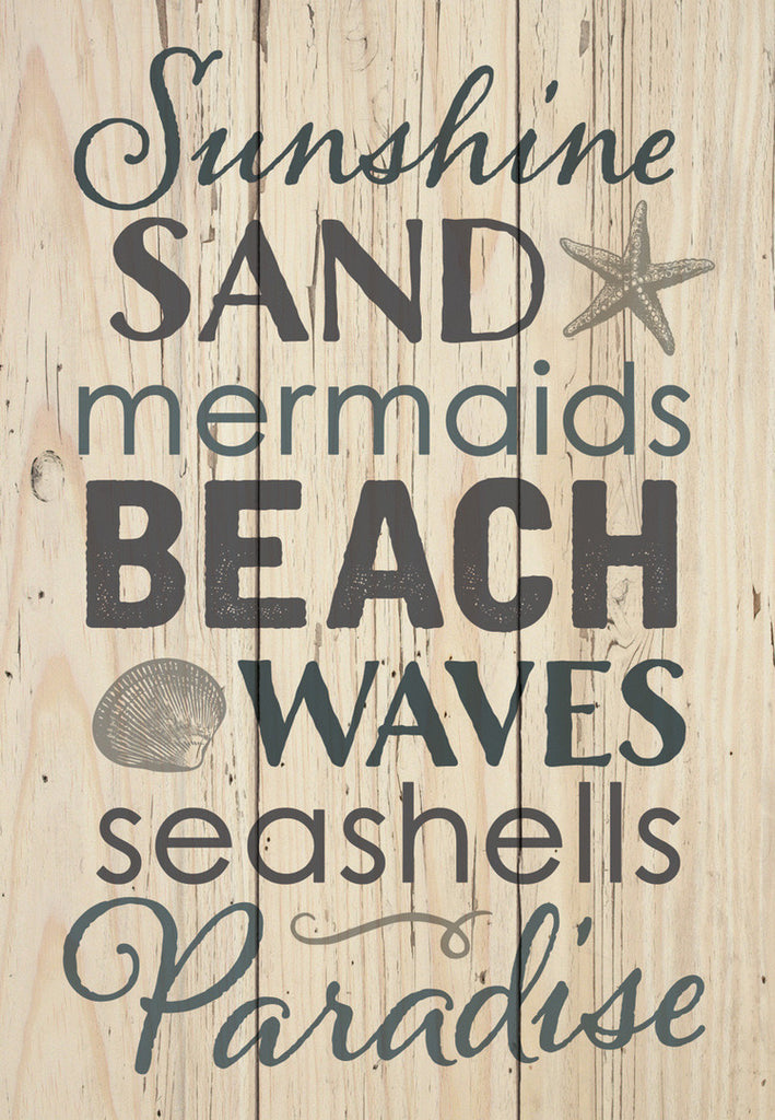 Sunshine Sand Wood Sign
