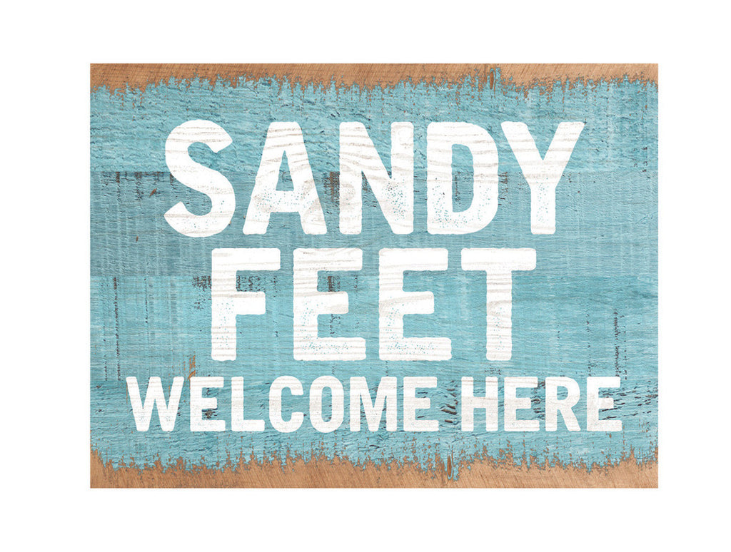 Sandy Feet Little Block Sign