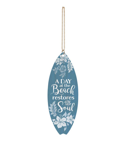 A Day at the Beach Surfboard Keychain