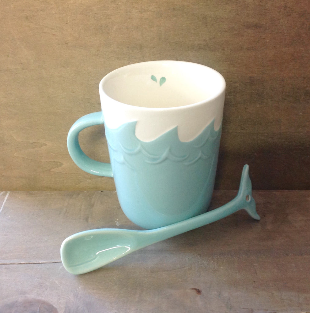 Whale Splash Spoon Mug