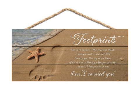 Footprints Rope Sign