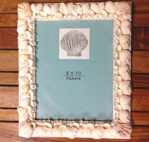 White Shell Picture Frame