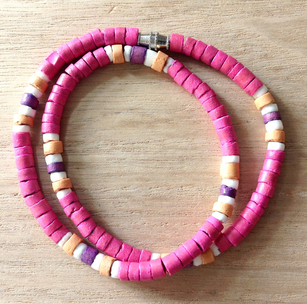 Colorful Coconut Necklace