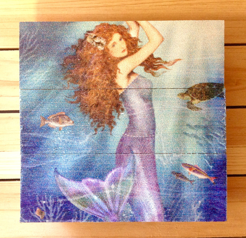 Mermaid Art Wood sign