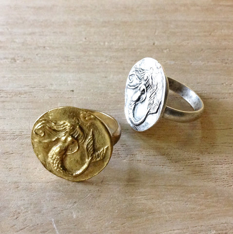Mermaid Medallion Ring