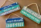 Mermaid Mini Signs