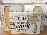 Beach Cut Out Box Signs