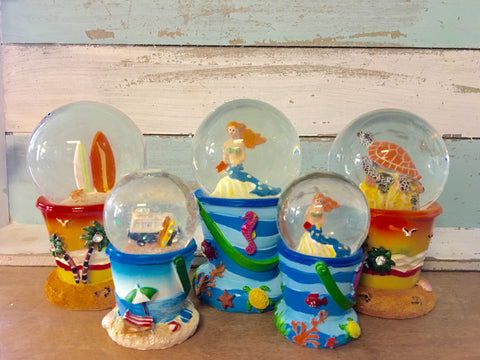 Beach Bucket Snow Globes