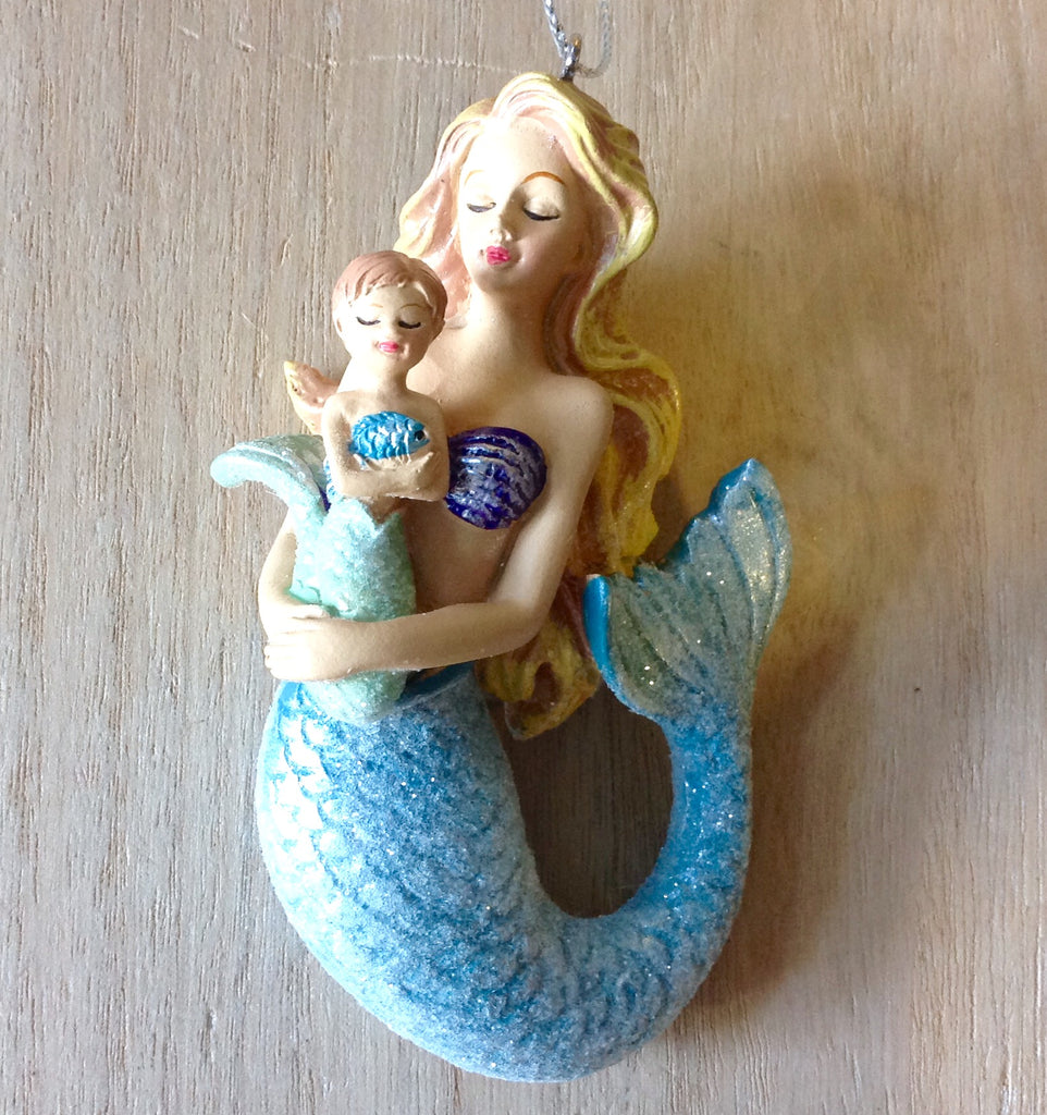 Mermaid Mother & Baby Ornament