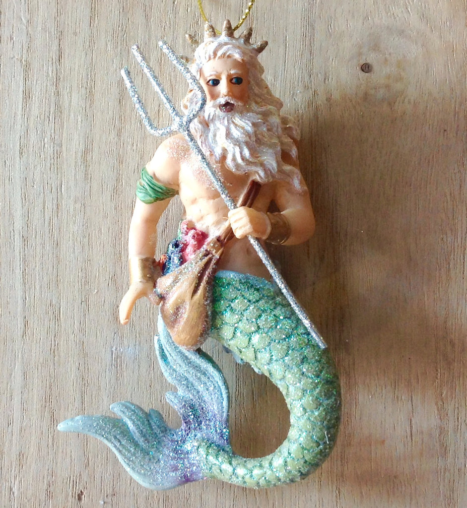 Silver Trident Merman Ornament