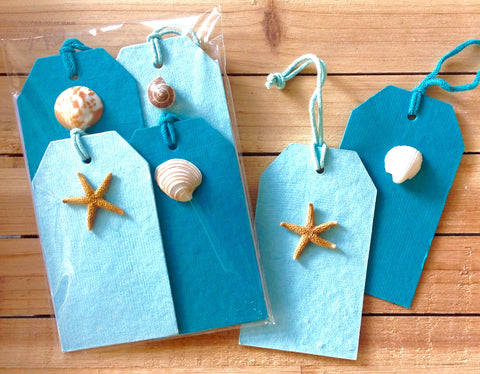Sea Things Seashell Gift Tags