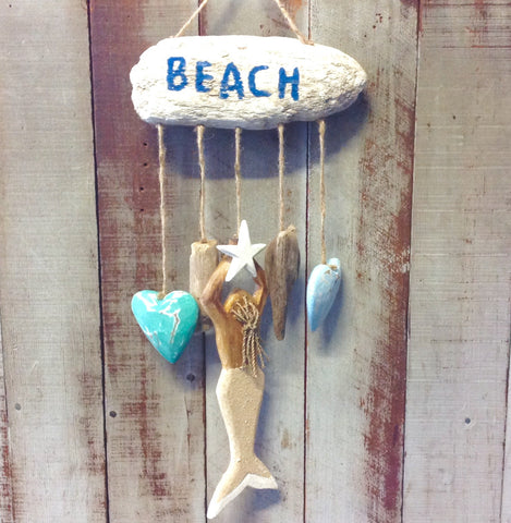 Beach Mermaid Driftwood Mobile