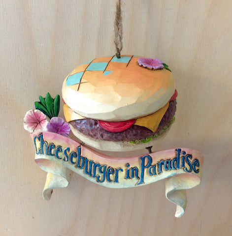 Cheeseburger in Paradise Ornament