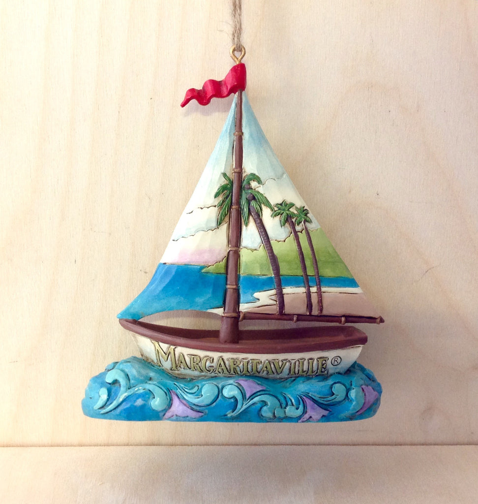 Margaritaville Palm Tree Sailboat Ornament
