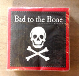 Skull Crossbones Small Square 24 per pack