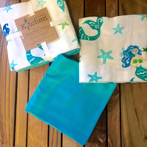 Mermaid Flour Sack Towels
