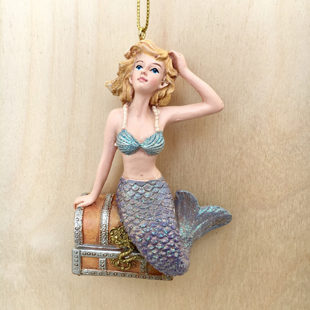Mermaid Treasures Christmas Ornament