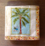 Palm Tree Small Square Napkin 24 per pack