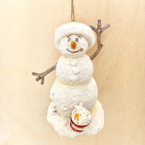 Sea Snowman Christmas Ornament