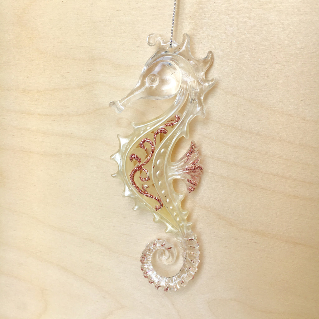 Seahorse Fancy Christmas Ornament