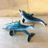 Blue Dolphin Ornament