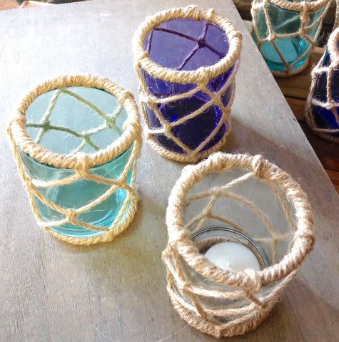 Rope Net Candle Holder