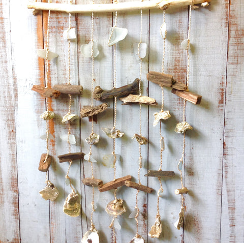 Driftwood Sea Glass Windchime