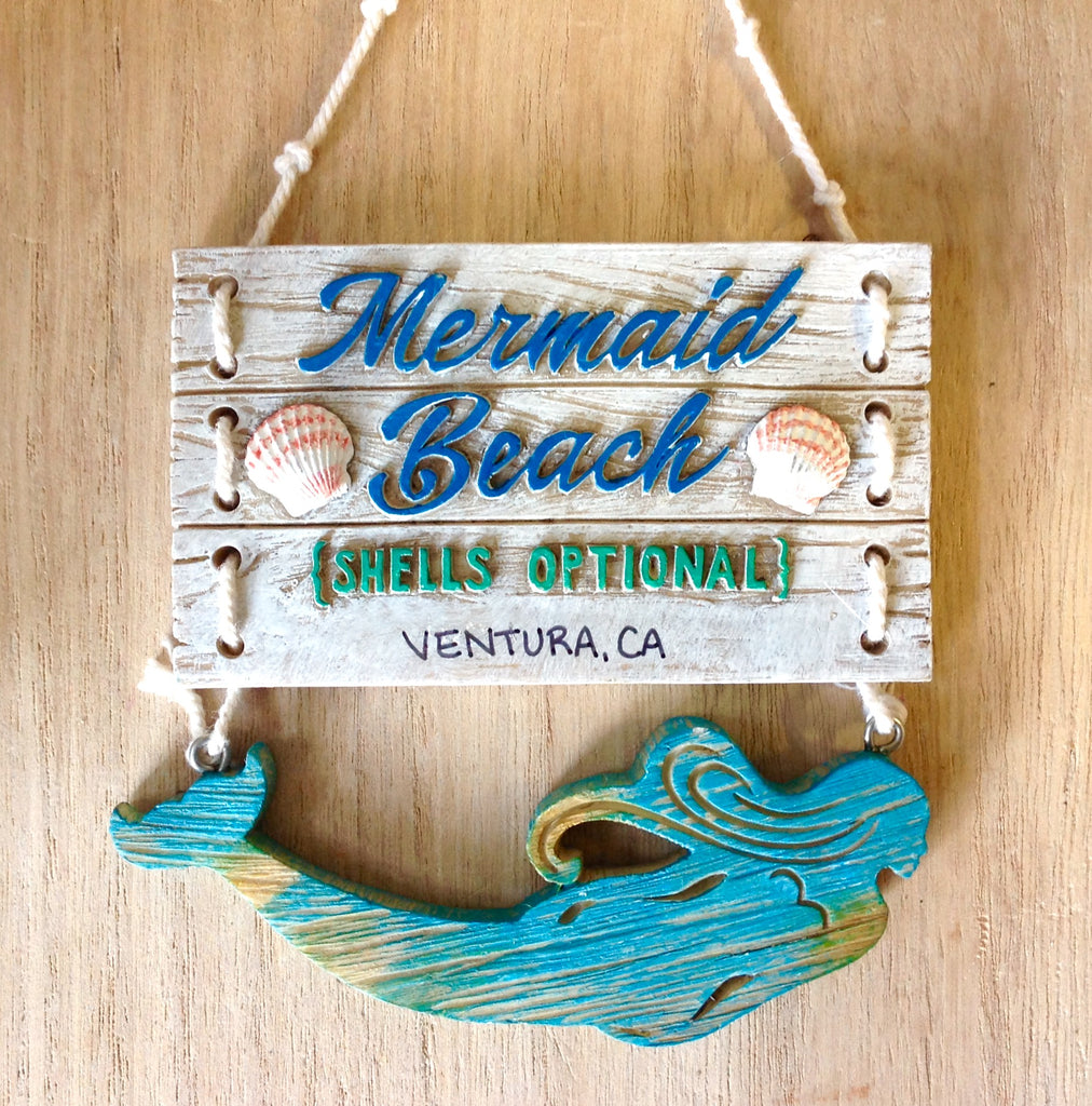 Mermaid Beach Sign Ornament