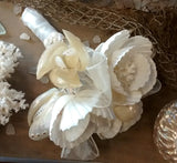 White Seashell Bridal Bouquet
