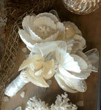 White Seashell Bouquet