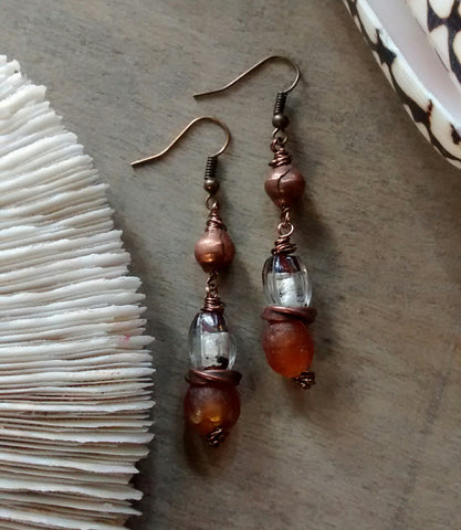 Amber Sea Earrings