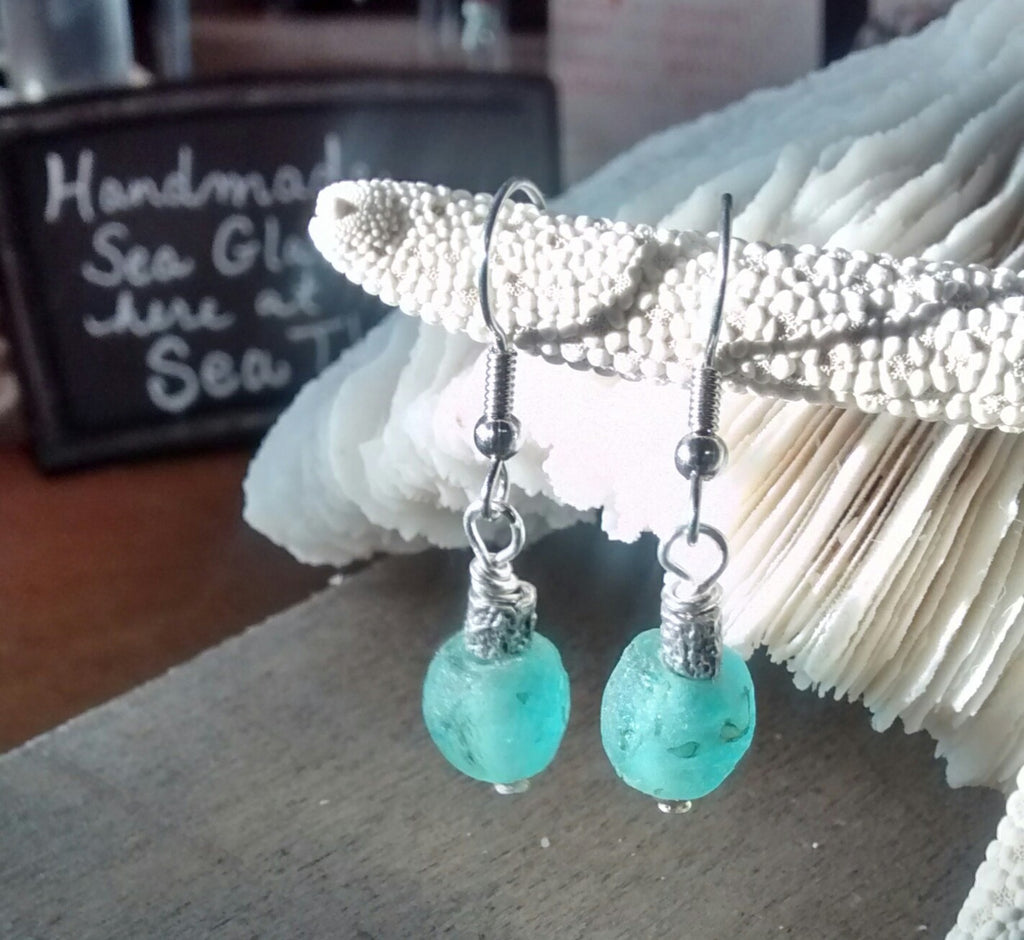 Simple Sea Earrings